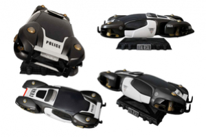Total Recall Flying Police Car Image 3